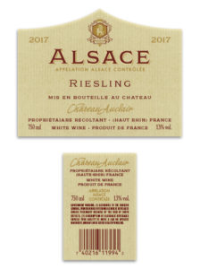 Alsace French – White Riesling 2017