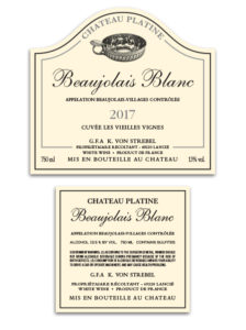 Chateau Platine French – White Beaujolais Blanc 2017