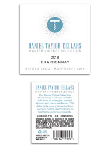 Daniel Taylor Cellars MVS Domestic – White Chardonnay 2018