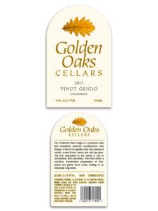 Golden Oaks Domestic – White Pinot Grigio 2017