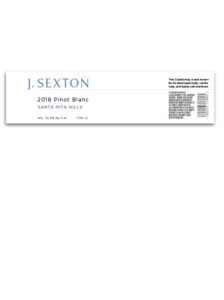 J. Sexton Domestic – White PinotBlanc 2018