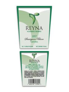 Reyna Domestic – White Sauvignon Blanc 2017